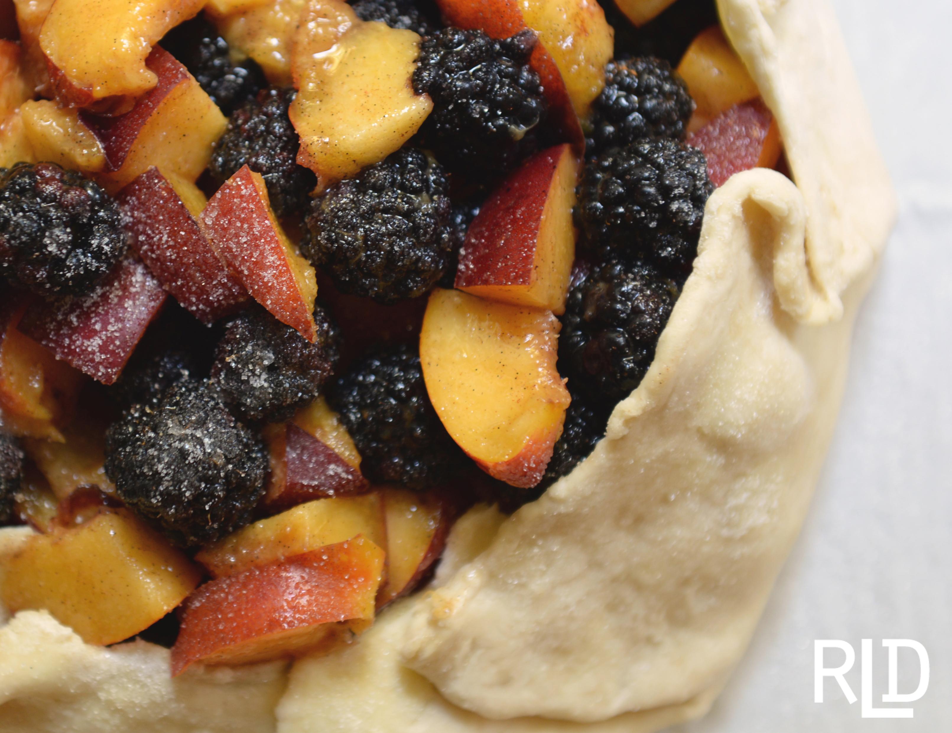 Blackberry Nectarine Galette | Wine Dine Wander